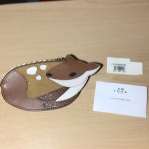 Coach Bags - Coach deer leather suede coin purse. Nwt